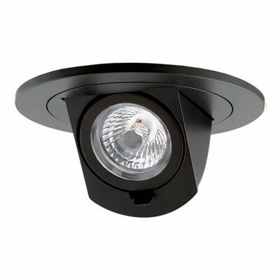 Led Round Adjustable Pull-Down Insert 4 Recessed Lighting Kit Finish: Black