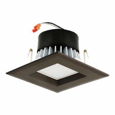 Square Insert Reflector 3 LED Recessed Trim Trim Finish: Bronze