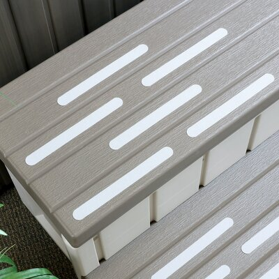 Adhesive Bath Tread Color: White