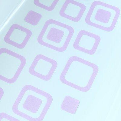 Adhesive Square Bath Tread Color: Light Purple