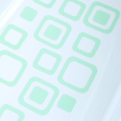 Adhesive Square Bath Tread Color: Green