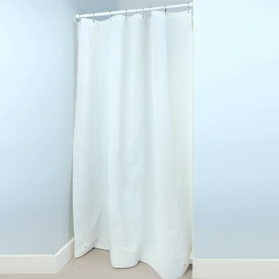 PEVA Stall Shower Liner with Microban Color: White