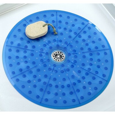 Round Shower Mat Color: Blue