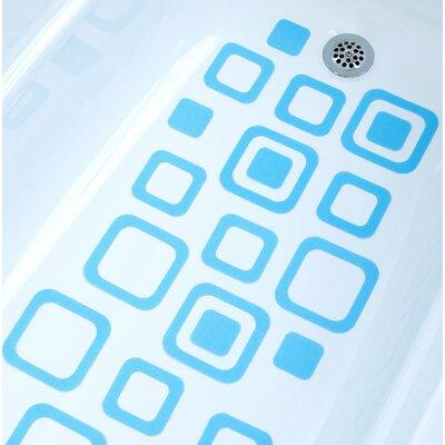 Adhesive Square Bath Tread Color: Blue