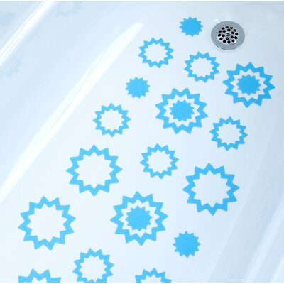 Adhesive Starburst Bath Tread Color: Blue