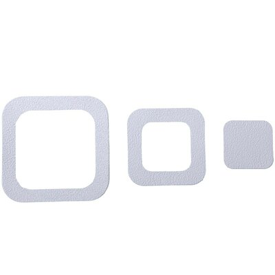 Adhesive Square Bath Tread Color: White