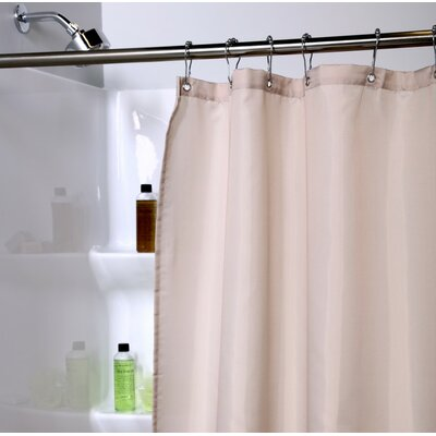 Polyester Shower Curtain Liner with Microban Color: Beige