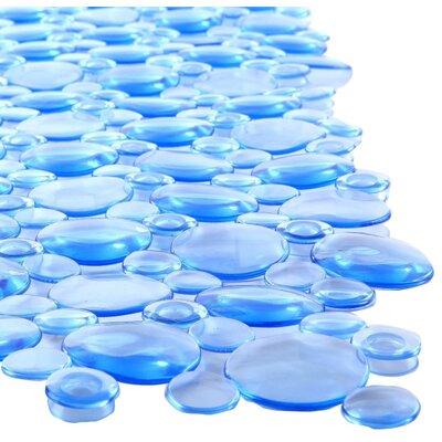 Burst of Bubbles Bath Mat Color: Light Blue