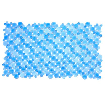 Burst of Bubbles Bath Mat Color: Blue