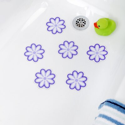 Adhesive Daisy Bath Tread Color: Purple