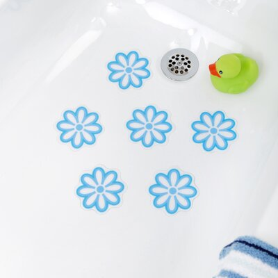 Adhesive Daisy Bath Tread Color: Blue