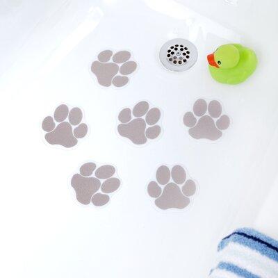 Adhesive Paw Print Bath Tread Color: Brown