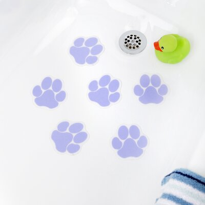 Adhesive Paw Print Bath Tread Color: Purple