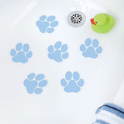 Adhesive Paw Print Bath Tread Color: Blue
