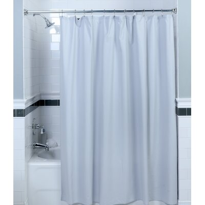 Textured Fabric Shower Curtain Color: Gray