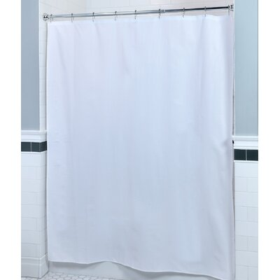 Textured Fabric Shower Curtain Color: White