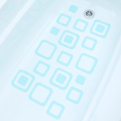 Adhesive Square Bath Tread Color: Aqua