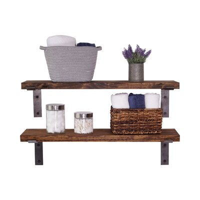 2 Piece Industrial Accent Shelves