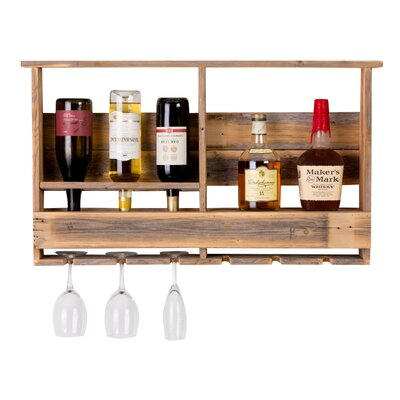 West Covina Wall Mounted Wine Bottle Rack