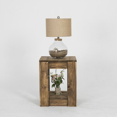 Lamoreaux Rustic Knotty End Table