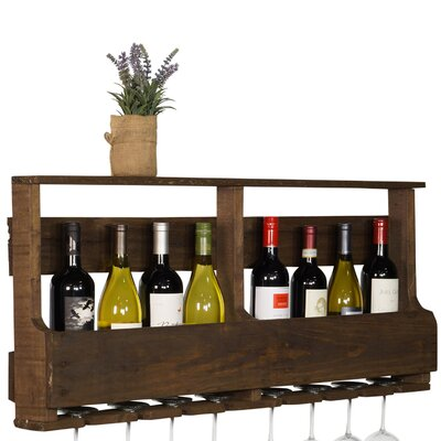 Layla Original Series 8 Bottle Wall Mounted Wine Rack