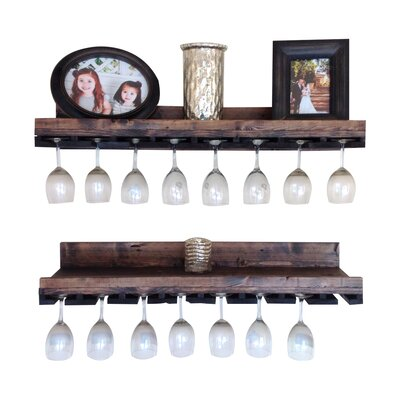Windsor Rustic Luxe Tiered Wall Mounted Wine Glass Rack