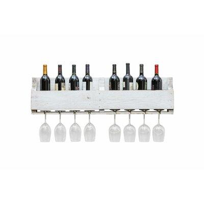 8 Bottle Wall Mounted Wine Rack Finish: White