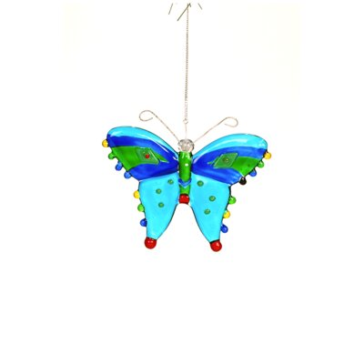 Glass Butterfly Hanging Ornament (Set of 3) DD6634
