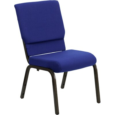 Taylor Stacking Church Chair Frame Finish: Gold Vein, Seat Color: Navy Blue