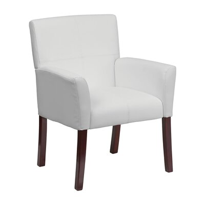 Executive Leather Reception Chair Seat Color: White
