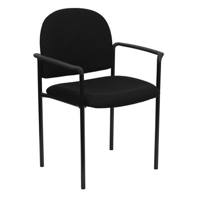 Stackable Reception Chair Seat Color: Black