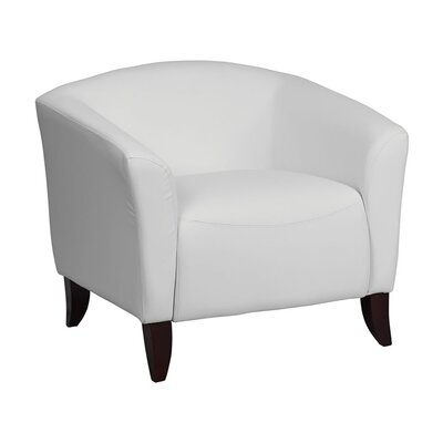 Ash Leather Reception Chair Seat Color: White