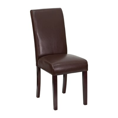 Parsons Chair Upholstery: Dark Brown