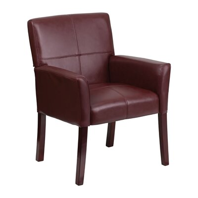 Executive Leather Reception Chair Seat Color: Burgundy