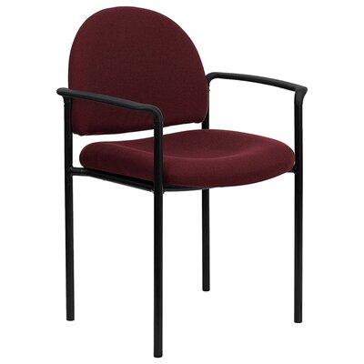 Stackable Reception Chair Seat Color: Burgundy
