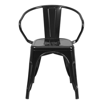 Arm Chair Finish: Black