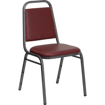 Hercules Series Trapezoidal Banquet Chair Seat Color: Burgundy, Frame Finish: Silver Vein