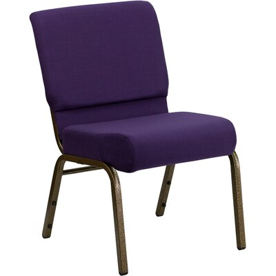 Taylor Stacking Church Chair Finish: Gold Vein, Seat Color: Royal Purple
