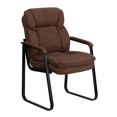 Executive Reception Chair Seat Color: Brown