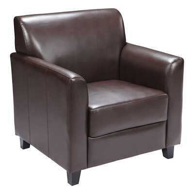 Ash Reception Chair Seat Color: Brown