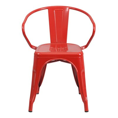 Arm Chair Finish: Red