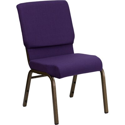 Taylor Stacking Church Chair Frame Finish: Gold Vein, Seat Color: Royal Purple