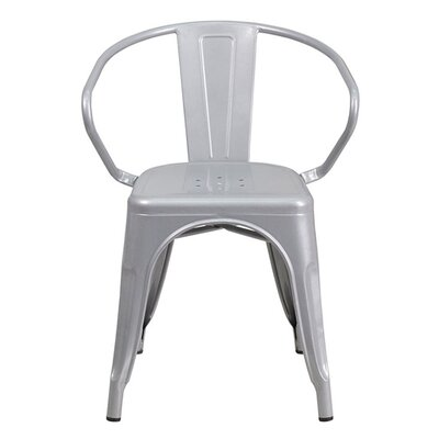Arm Chair Finish: Silver