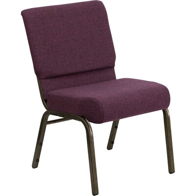 Taylor Stacking Church Chair Finish: Gold Vein, Seat Color: Plum