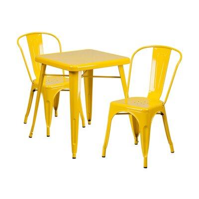 3 Piece Dining Set Finish: Yellow