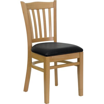 Osborne Side Chair Upholstery: Black, Finish: Natural