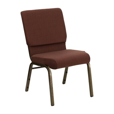 Taylor Stacking Church Chair Seat Finish: Brown, Frame Finish: Gold Vein