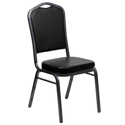 Taylor Crown Banquet Chair Seat Color: Black, Frame Finish: Silver Vein