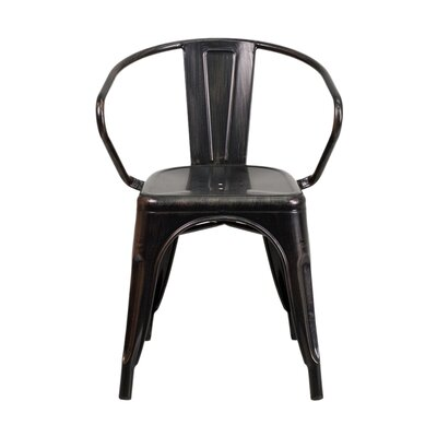 Arm Chair Finish: Black Antique Gold