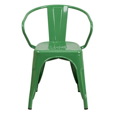 Arm Chair Finish: Green